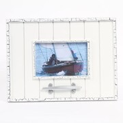 DEI Latitude 38 4'' x 6'' Nautical Wood Picture Frame with Cleat; White