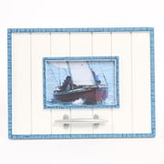 DEI Latitude 38 4'' x 6'' Nautical Wood Picture Frame with Cleat; Navy
