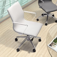 dCOR design Herald Low Back Office Chair; White