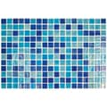 Onix USA Colour Blend 1'' x 1'' Glass Frosted Mosaic in Piscis