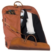 Royce Leather Royce Leather Garment Bag Travel Luggage in Genuine Leather; Tan