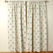 The Pillow Collection Aqua Rod Pocket Curtain Panel (Set of 2); 72'' L x 50'' W