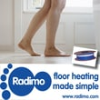 Radimo Radicable 120V Under Floor Heating System; 20 sq. ft. (80 ft Length)
