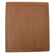 Piel Three-Ring Binder Folder; Saddle