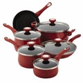 Farberware New Traditions 14-Piece Cookware Set; Red