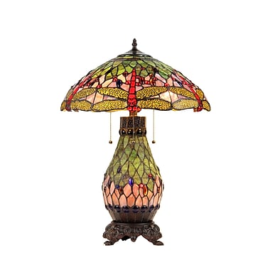 Chloe Lighting Dragonfly Anisoptera Purity 25.2'' Table Lamp
