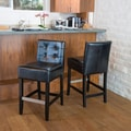 Home Loft Concept Exclusives Brinkley Bar Stool (Set of 2); Black