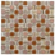 EliteTile Chroma 7/8'' x 7/8'' Square Glass and Stone Mosaic Wall Tile in Cocoa
