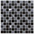 EliteTile Chroma 7/8'' x 7/8'' Square Glass and Stone Mosaic Wall Tile in  Ligoria