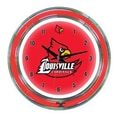 Wave 7 NCAA 14'' Team Neon Wall Clock; Louisville