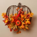 Cypress Autumn Inspiration Pumpkin Frame Floral Wall Decor