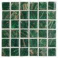 Daltile Elemental Glass 3/4'' x 3/4'' Mosaic Tile in Shamrock