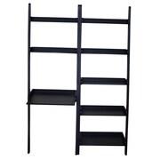 International Concepts Leaning Desk with Shelf; Black