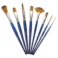 Winsor & Newton Cotman Synthetic Watercolor Fan Short Handle Brush; 4
