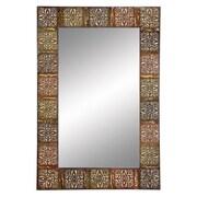 Aspire Embossed Frame Wall Mirror