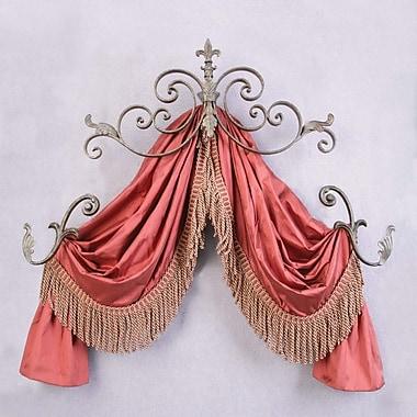 Menagerie Casa Artistica Fleur 29'' Curtain Valance; Gold