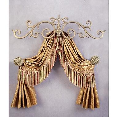 Menagerie Casa Artistica Top Treatment Large Royal Curtain Bracket; Bronze