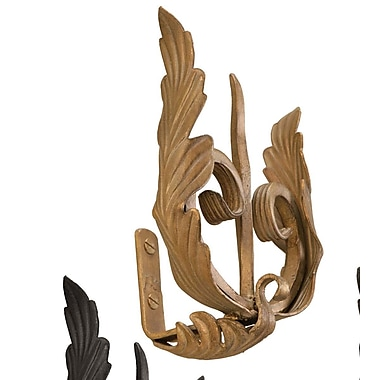 Menagerie Casa Artistica Forked w/ Leaf Curtain Holdback (Set of 2); Gold
