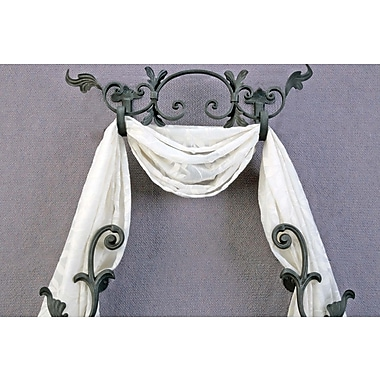Menagerie Casa Artistica Banded Scroll 23.5'' Curtain Valance; Gunmetal