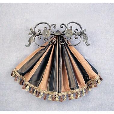 Menagerie Casa Artistica Top Treatment Medallion Curtain Holdback; Gold