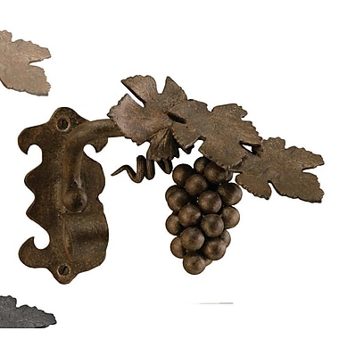Menagerie Casa Artistica Grape Vine Curtain Holdback (Set of 2); Bronze