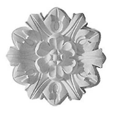 Ekena Millwork Emery Leaf 7.63''H x 7.63''W x 1''D Ceiling Medallion