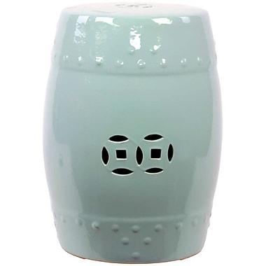 Urban Trends Ceramic Garden Stool; Blue