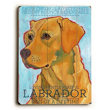 Artehouse LLC Labrador by Ursula Dodge Graphic Art Plaque