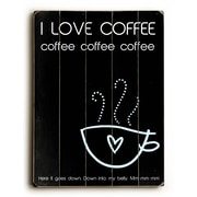 Artehouse LLC I Love Coffee Wood Sign