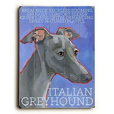 Artehouse LLC Italian Greyhound by Ursula Dodge Graphic Art Plaque