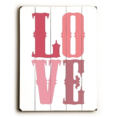 Artehouse LLC Love by Amanada Catherine Textual Art Plaque; Pink