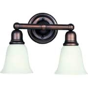 Maxim Lighting Bel Air 2-Light Bath Vanity; Soft vanilla/oil rubbed bronze