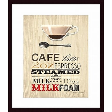 Printfinders 'Cafe Latte' by Marco Fabiano Framed Vintage Advertisement