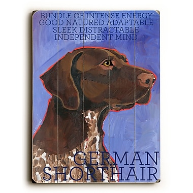 Artehouse LLC German Shorthair by Ursula Dodge Graphic Art Plaque