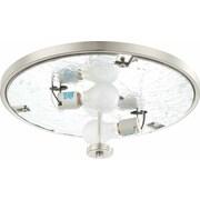 Volume Lighting Esprit 2 Light Ceiling Fixture Flush Mount; Brushed Nickel