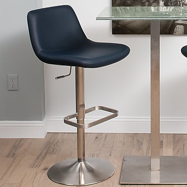 Matrix Dixon Adjustable Height Swivel Bar Stool; Navy