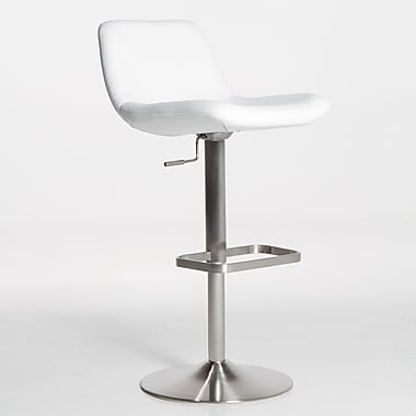 Matrix Dixon 23'' Adjustable Swivel Bar Stool; White