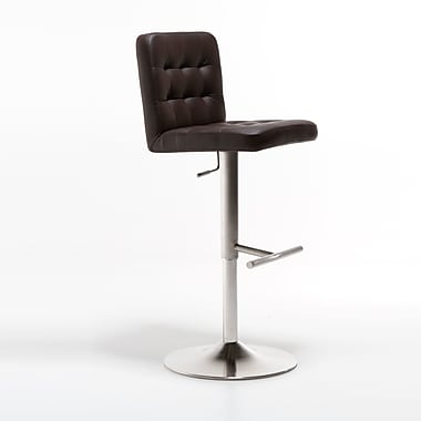 Matrix Dexter Adjustable Height Bar Stool; Dark Brown