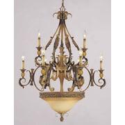 Volume Lighting Venetian 9 Light Candle Chandelier