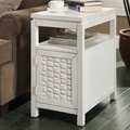 Coast to Coast Imports End Table; Malden Island Antique White