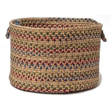 Colonial Mills Twilight Braided Utility Basket; Evergold