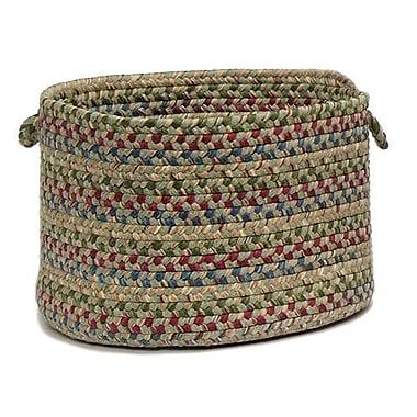 Colonial Mills Twilight Braided Utility Basket; Palm