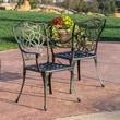 Home Loft Concept Gibraltar Cast Aluminum Outdoor Chair (Set of 2)
