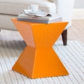 Sunpan Modern Rocco End Table; Orange