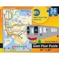 New York Puzzle Company New York City Subway for Kids 36-Piece Floor Puzzle