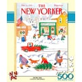 New York Puzzle Company Snow Day 500-Piece Puzzle