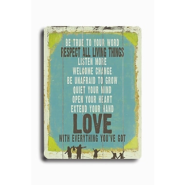 Artehouse LLC Love is Everything You've Got by Lisa Weedn Textual Art Plaque
