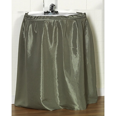 Carnation Home Fashions ''Lauren'' 100pct Polyester Dobby Sink Skirt; Sage
