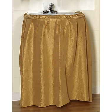 Carnation Home Fashions ''Lauren'' 100pct Polyester Dobby Sink Skirt; Gold