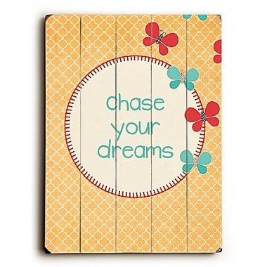 Artehouse LLC Chase Your Dreams by Cheryl Overton Textual Art Plaque